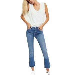 """Free People Straight Crop Jeans 9"""" Rise 27"""